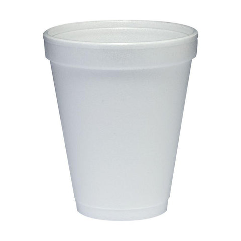 Dart 10 oz. White Foam Cup, 1000 per case - Thebestpartydeals