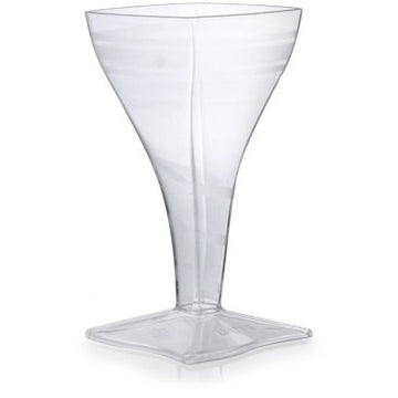 2 oz. Square Wine Glass, 96 per case - Thebestpartydeals