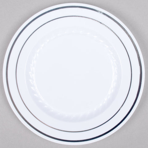 "Silver Splendor 6"" Plate, 15 per package - Thebestpartydeals"