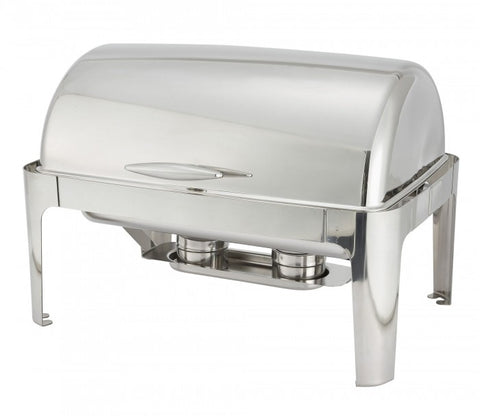 Winco 601 Full Size Chafer w/ Roll-top Lid & Chafing Fuel Heat