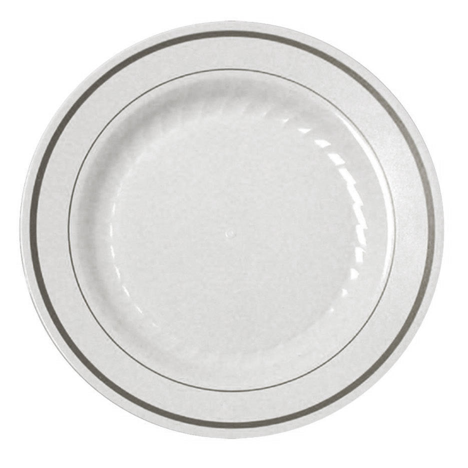 Silver Splendor 9  Dinner Plate 12 per Package ...  sc 1 st  Thebestpartydeals : cheap white dinner plates - Pezcame.Com