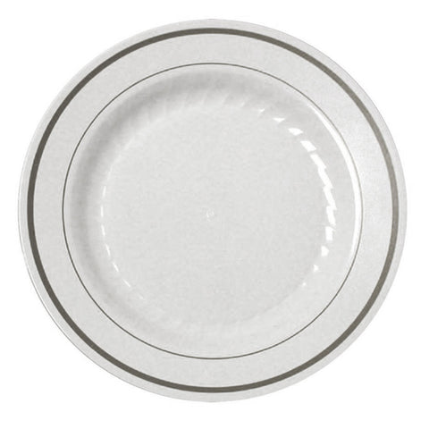 "Silver Splendor 9"" Dinner Plate, 12 per Package"