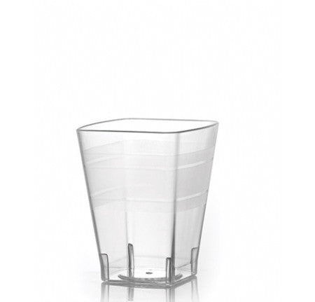 Wavetrends 8 oz. Square Tumblers, 168 per case - Thebestpartydeals