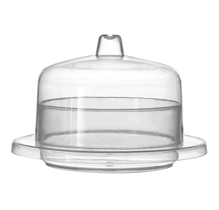 "2.4"" round mini domain with lid - 120 sets per case - Thebestpartydeals"