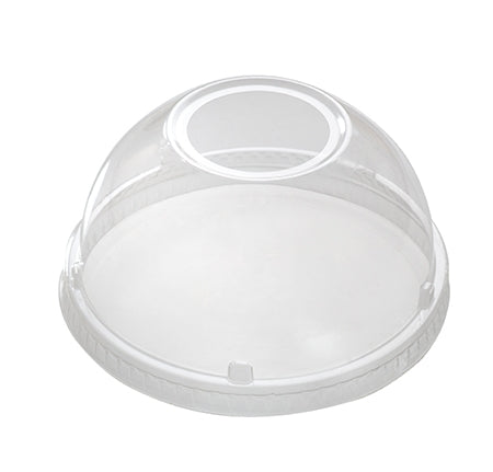 "PET Dome lid with 1.75"" hole - fits 12-24oz drinking cup - 1000 per case - Thebestpartydeals"