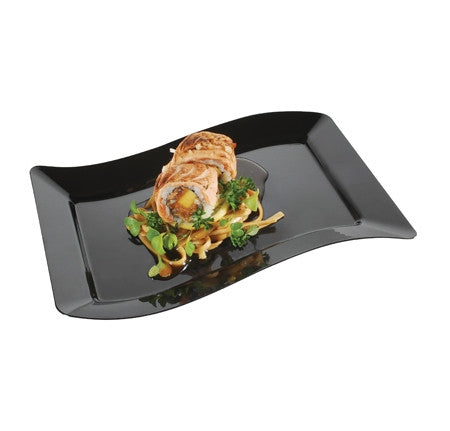 "Wavetrends Rectangular 6.5"" x 10"" Salad Plate, 120 per case - Thebestpartydeals"