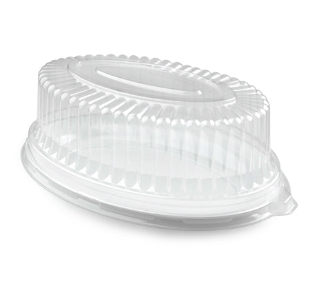"8"" x 12"" oval dome lid - 50 per case - Thebestpartydeals"