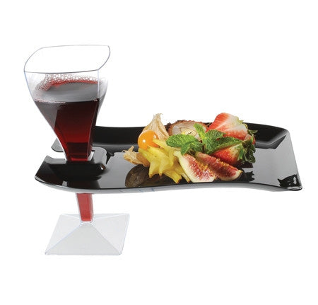"Wavetrends Rectangular 6"" x 9.5"" Cocktail Plate, 10 per package"