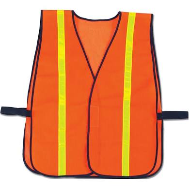 Orange safety vests - Packed 12 - Thebestpartydeals