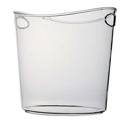 1 Gallon Oval Ice Bucket, Clear - Thebestpartydeals