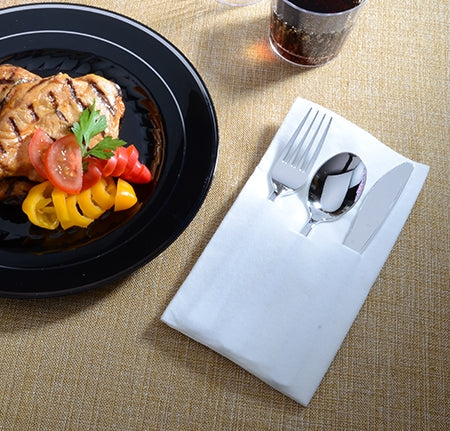 3 PC Pocket Napkin Set w/ Silver F/S/K - Case - Thebestpartydeals