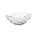 Wavetrends 8 oz. Square Serving Bowl, 4 per package - Thebestpartydeals