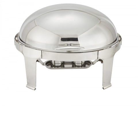 Winco 603  8 quart oval chafer with roll top lid & chafing fuel heat - Thebestpartydeals