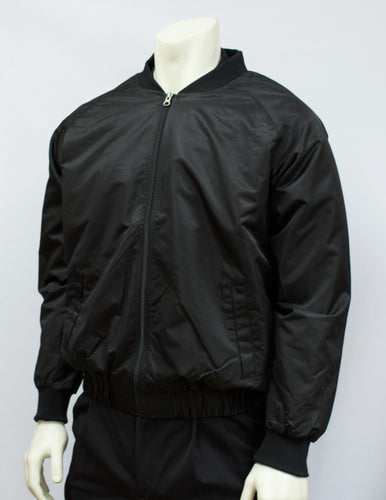BKS220-Smitty Black Jacket with Full Front Zipper