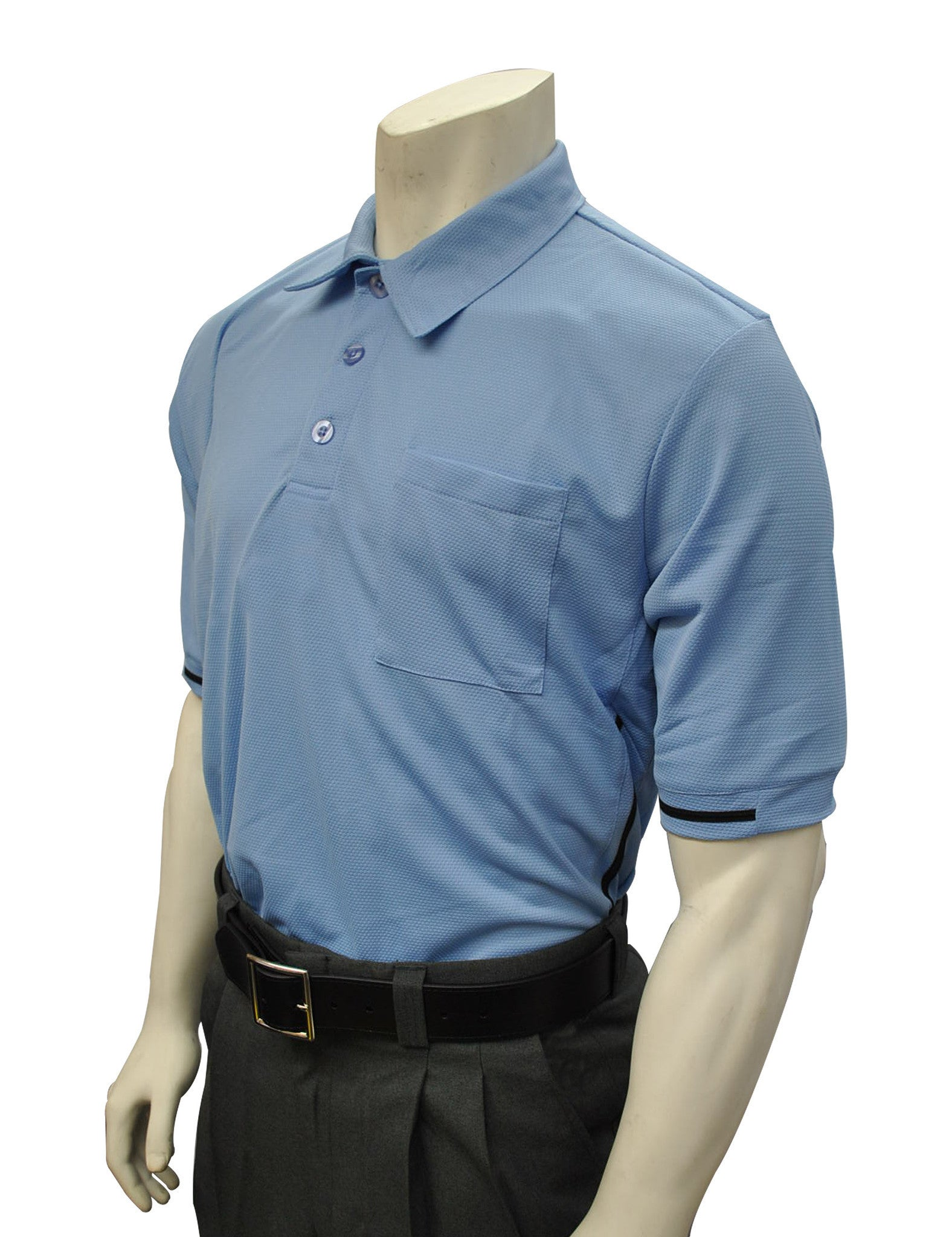ae4dcfd39137 BBS310-Smitty Major League Style Umpire Shirt - Available in Black and  Carolina Blue
