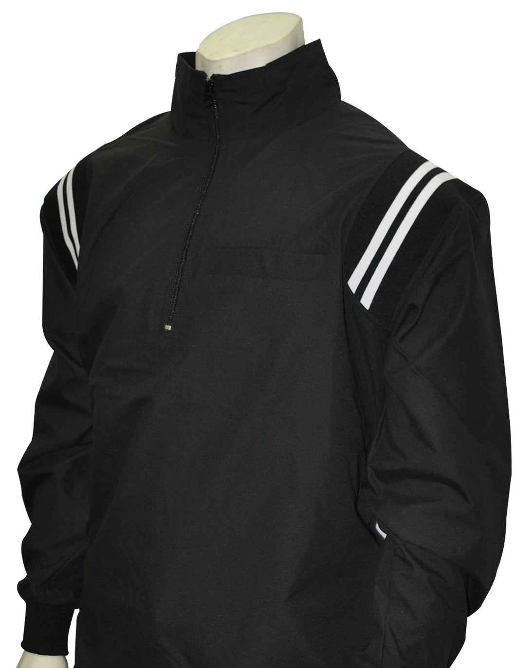 BBS322-Smitty Long Sleeve Microfiber Shell Pullover Jacket w/ Half Zipper w/ Open Bottom
