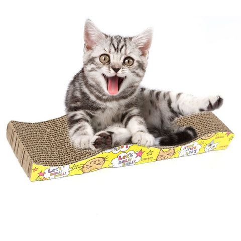 Cat Kitten Corrugated Scratch Board Pad Scratcher Bed Mat