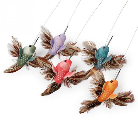 8 x 5.5cm Electric Rotating Colorful Butterfly and Bird Pattern Funny  Toy  For Cats Kitten