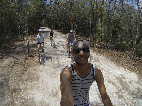 Biking Through Coba
