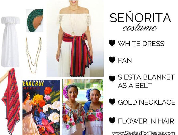 Mexican Spanish Senorita DIY Halloween Costume