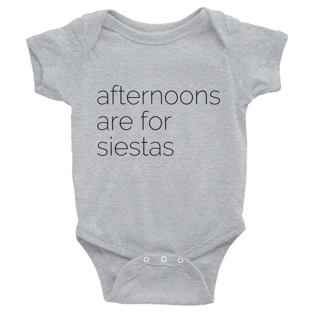 Afternoon Siestas Baby Short Sleeve Onesie