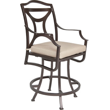 Madison Swivel Counter Stool With Arms