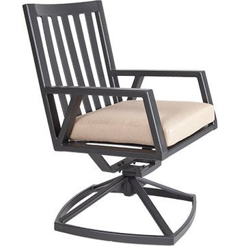 Ow Lee Aris Swivel Rocker Dining Arm Chair 2733-SR