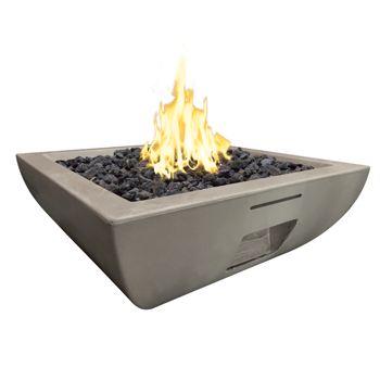 American Fyre Designs Bordeaux Square Fire Bowl 36