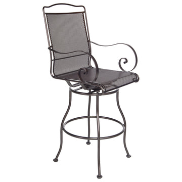 Ow Lee Avalon Swivel Bar Stool With Arms 4374-SBS