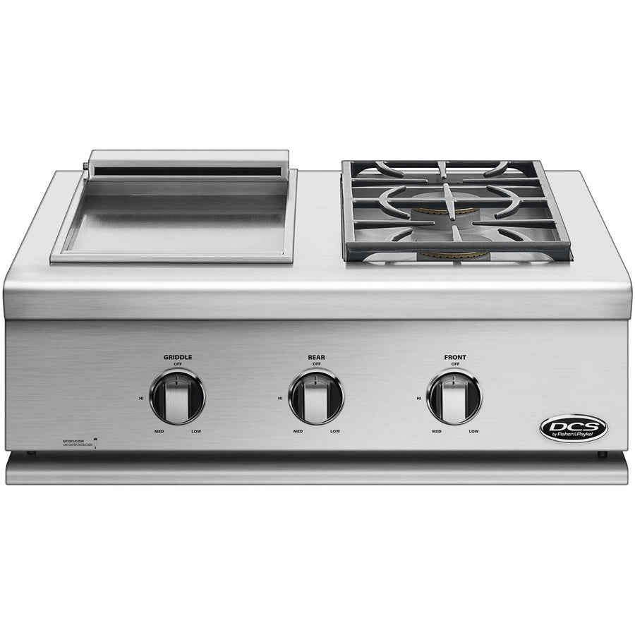 DCS Liberty 30-Inch Built-In Gas Double Side Burner And Griddle - BFGC-30BGD