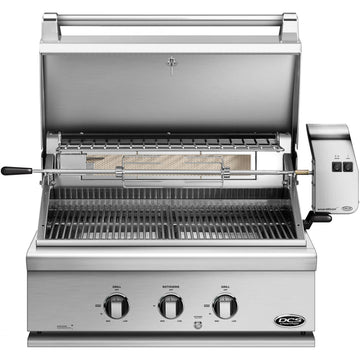 DCS Series 7 Traditional 30 Inch Built-In Gas Grill With Rotisserie - BH1-30R