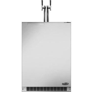 DCS 24-Inch 5.7 Cu. Ft. Right & Left Hinge Outdoor Rated Dual Tap Beer Dispenser / Kegerator - RF24BTR1