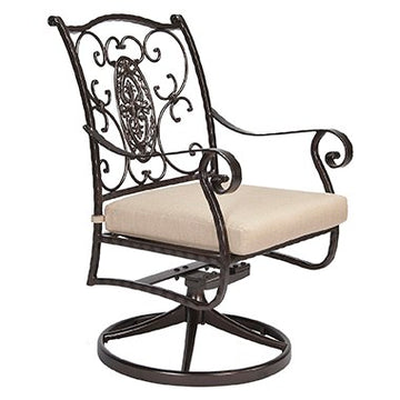 San Cristobal Swivel Rocker Dining Arm Chair