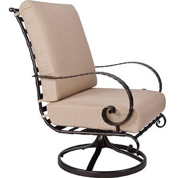 Ow Lee Classico High-Back Swivel Rocker Lounge Chair 937-SRW