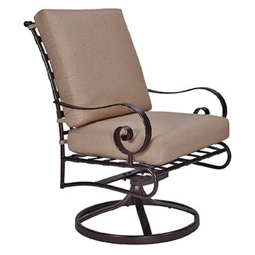 Ow Lee Classico Club Dining Swivel Rocker Arm Chair 942-SRW