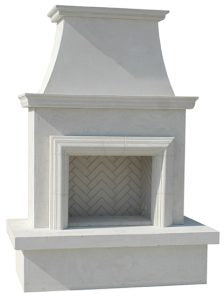 American Fyre Designs Contractor's Model Fireplace With Moulding