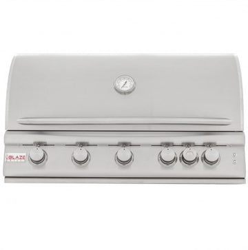 Blaze 5 Burner Built-In 40 Inch Grill With Lights BLZ-5LTE2-LP/NG