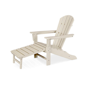 Polywood Palm Coast Ultimate Adirondack Chair With Hideaway Ottoman HNA15