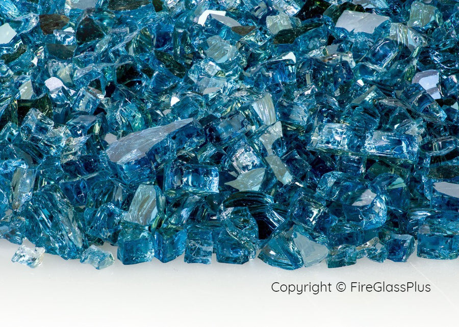 Fire Glass Plus Blue Lagoon Reflective 1/4
