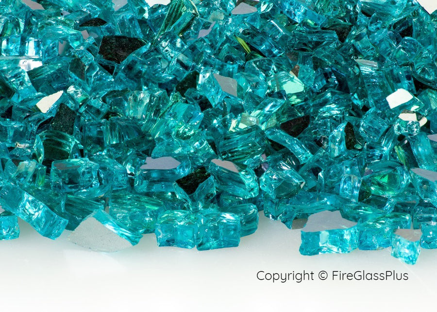Fire Glass Plus Caribbean Blue Reflective 1/4