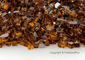 Fire Glass Plus Copper Reflective 1/4