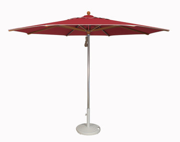 Treasure Garden 11' Vienna Alu Teak Umbrella with Trim