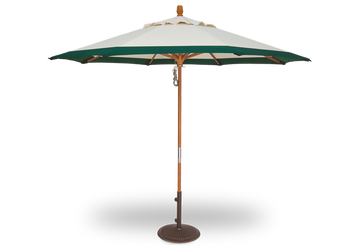 Treasure Garden 9' Quad Pulley Lift Octagon Hardwood Frame Umbrella