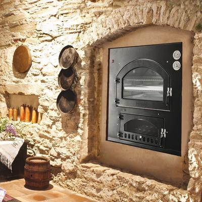 Fontana Forni INC 80X65V & INC 80X65Q 37 Inch Built-In Wood Burning Oven and Grill