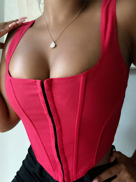 Red Snap Up Corset