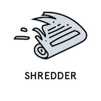 Shredder badge