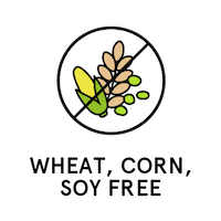 Wheat, Corn, Soy Free badge