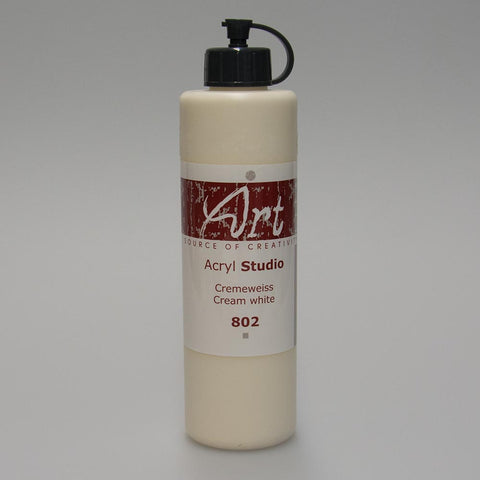 Art Life Acrylfarbe 802 Cremeweiss 250ml in Art Life Acryl Farbflasche