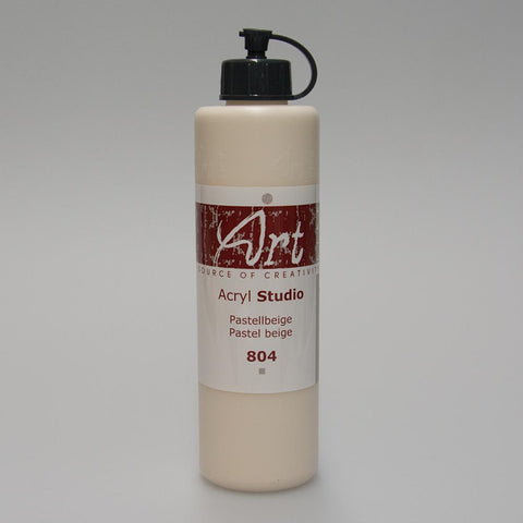 Art Life Acrylfarbe 804 Pastellbeige 250ml in Art Life Acryl Farbflasche