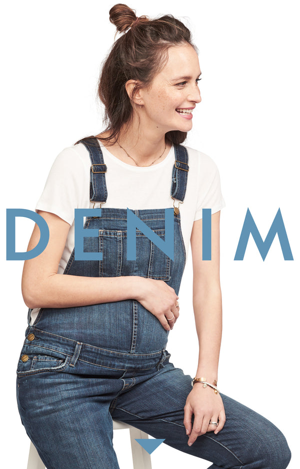 287c8ab49a1f39 Maternity Denim - Jeans & Overalls - HATCH Collection